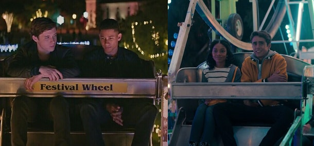 Simon and Bram, Victor and Mia in 'Love, Simon' and 'Love, Victor'
