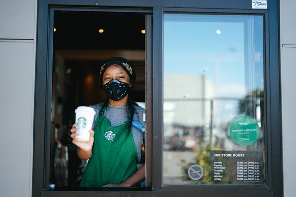 Here's what your next trip to Starbucks will look like as stores reopen.