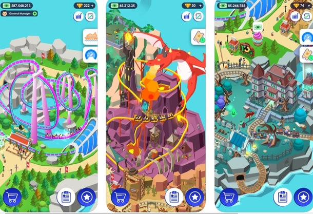 These free online games for 4th of July include a theme park tycoon game.