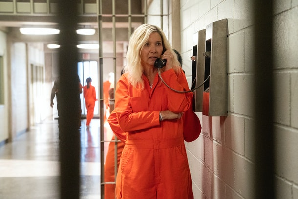 Maggie Naird in prison on 'Space Force'