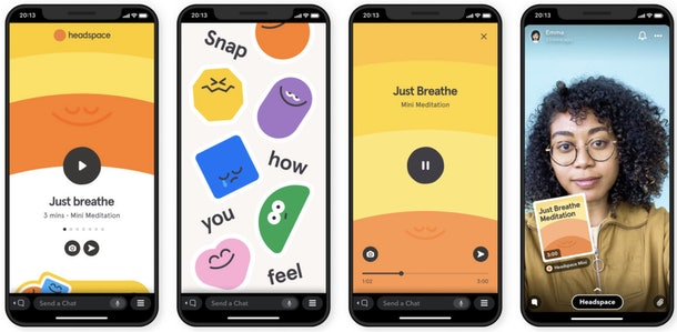 Here's how to use Snapchat's in-app meditation with Headspace to relieve stress with friends.