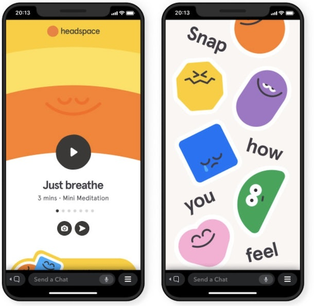 Here's where to find Snapchat's Headspace meditations in the app so you practice mindfulness.