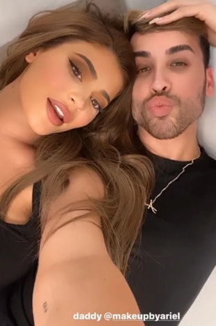 A screenshot from Kylie Jenner's July 1 Instagram video with her makeup artist Ariel Tejada. The clip revealed the star got a tattoo dedicated to her daughter, Stormi. Fans need to see Kylie Jenner's new arm tattoo because it's so meaningful.