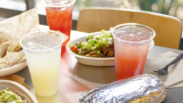 Chipotle's new Agua Fresca drinks are infused with fruity flavors.