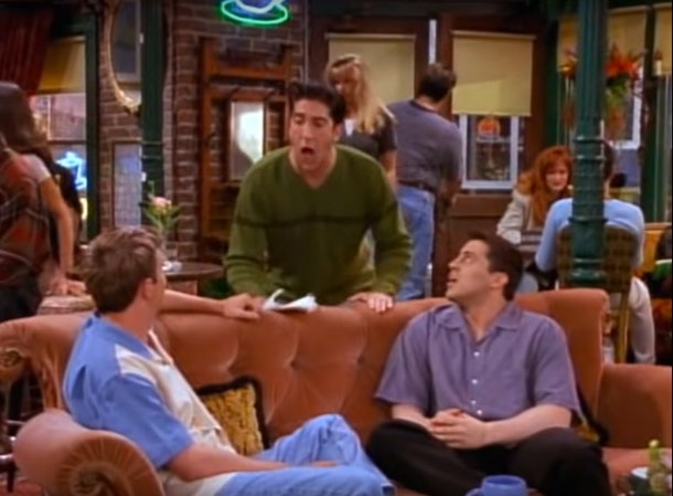 """Ross stating """"We were on a break"""" on 'Friends'"""