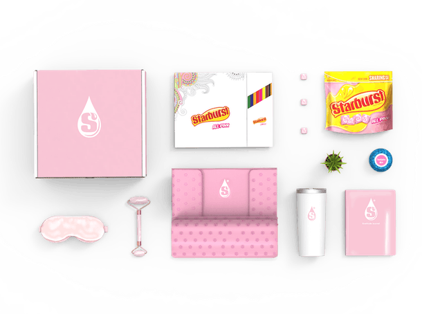 Here's how to get a Starburst All Pink Self-Care Kit to make you feel so pampered.