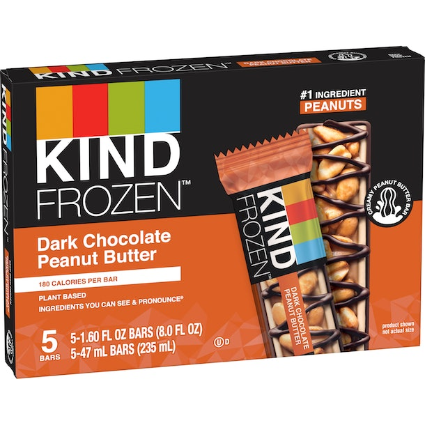 These Kind Frozen bar flavors feature a tasty chocolate and peanut butter option.