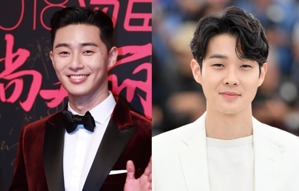 This Video Of BTS' V Reuniting With Park Seo Joon & Choi Woo Shik Is So Sweet.