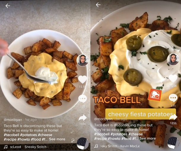This Cheesy Fiesta Potato recipe on TikTik looks so similar to the real thing.