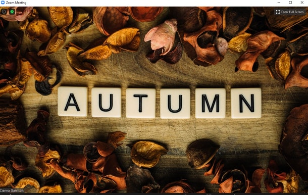 Here are festive fall-themed Zoom backgrounds to spice up you video calls.