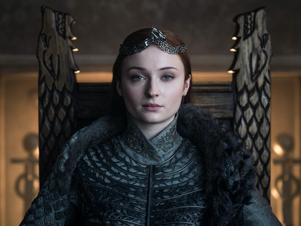 Sophie Turner revealed she has Sansa's throne from 'Game of Thrones.'