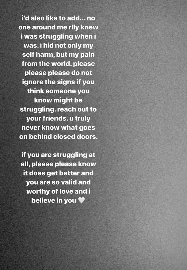 "Madison Beer's Quotes About Being ""1 Year Clean Of Self-Harm"" Are So Raw"