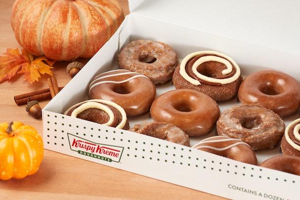 Krispy Kreme's 2020 Pumpkin Spice Doughnut Collection includes a cinnamon roll-inspired bite