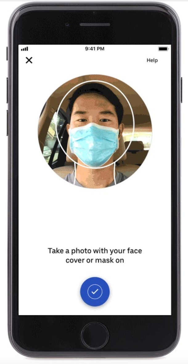 Uber's new rider mask verification will ask you to take a selfie with a face covering on.