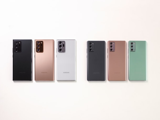 What colors does Samsung Galaxy Note 20 come in? There are three options.