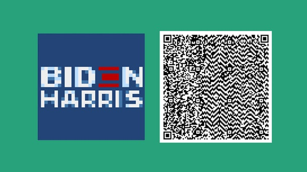 You can download a few Biden-Harris yard signs on 'Animal Crossing.'