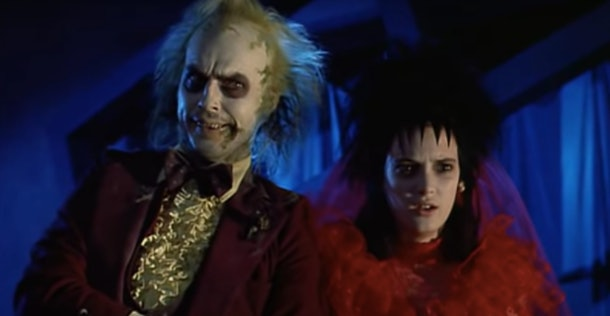 Beetlejuice and his bride wait to get married.