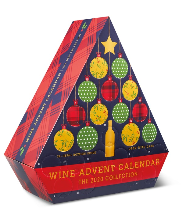Aldi's 2020 Wine Advent Calendar includes 24 individual bottles.