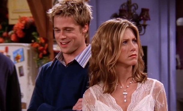 Brad Pitt guest starred on 'Friends' with Jennifer Aniston in 2001.