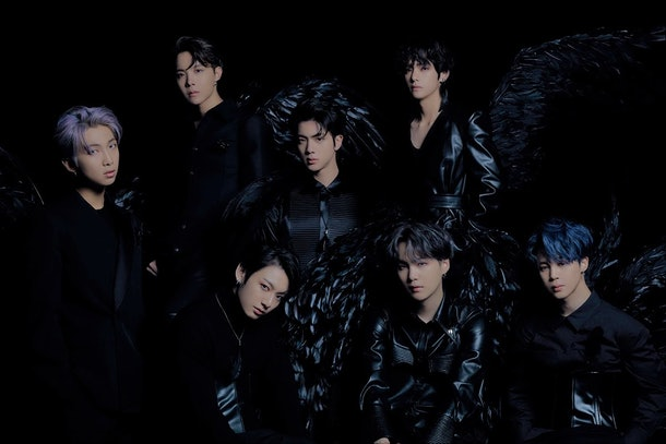"""An idea for BTS 2020 Halloween costumes is their """"Black Swan"""" outfits."""
