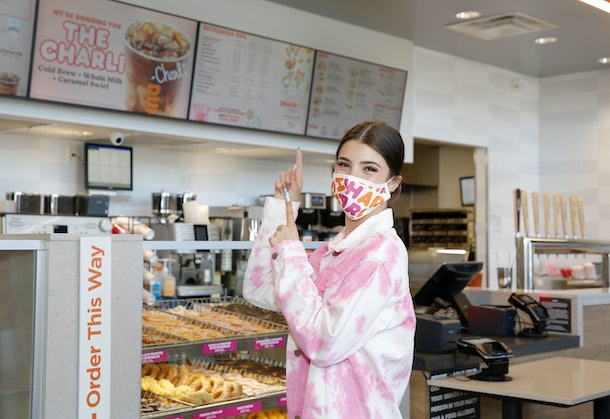 """Charli D'Amelio's Dunkin' coffee order, """"The Charli,"""" is available now nationwide."""