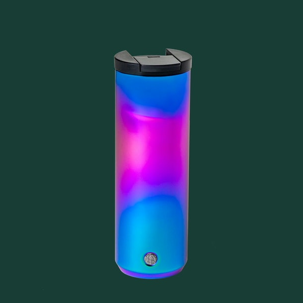 Starbucks' Holiday 2020 tumblers and cold cups include an Iridescent Tumbler.
