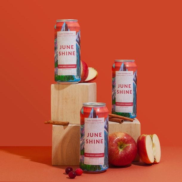 JuneShine's new Cran Apple Cinnamon Hard Kombucha is a fall twist on a summer sip.