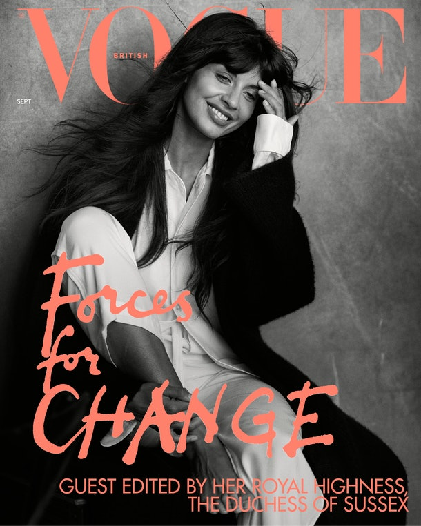 Jameela Jamil appears on the cover of British Vogue.