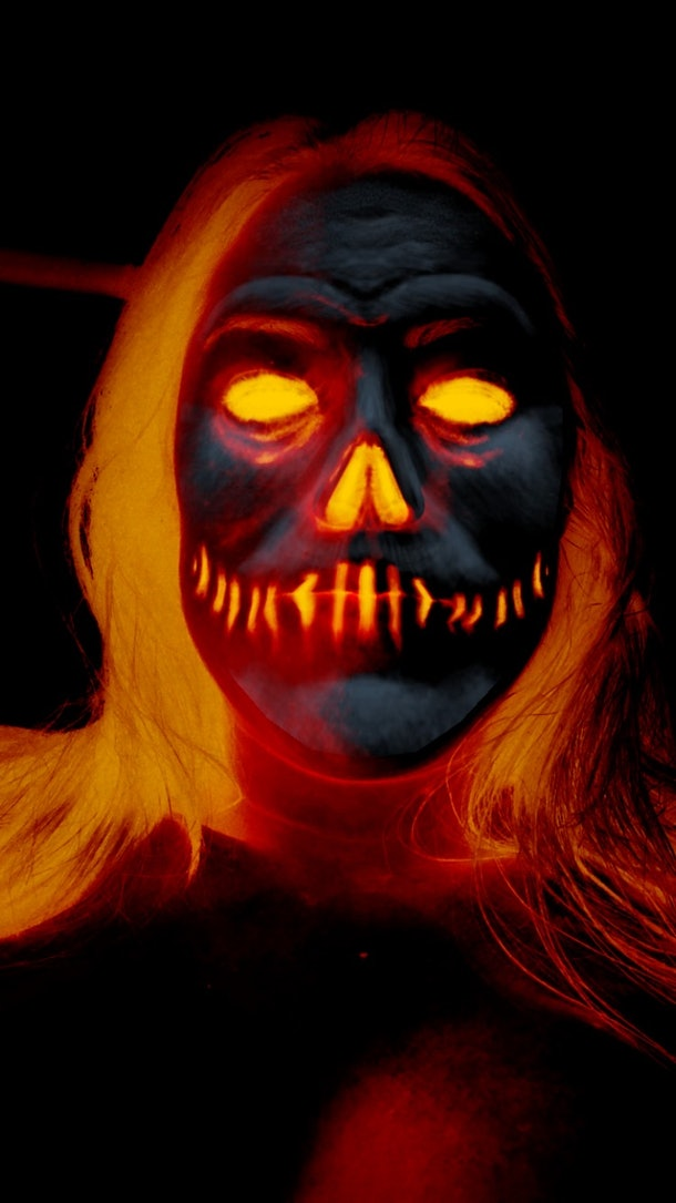 Snapchat's Halloween 2020 lenses include a terrifying fire skull one.