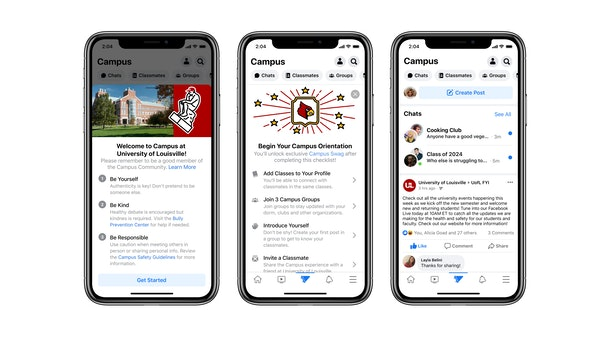 Here's how to join the new Facebook Campus so you can connect with your classmates.