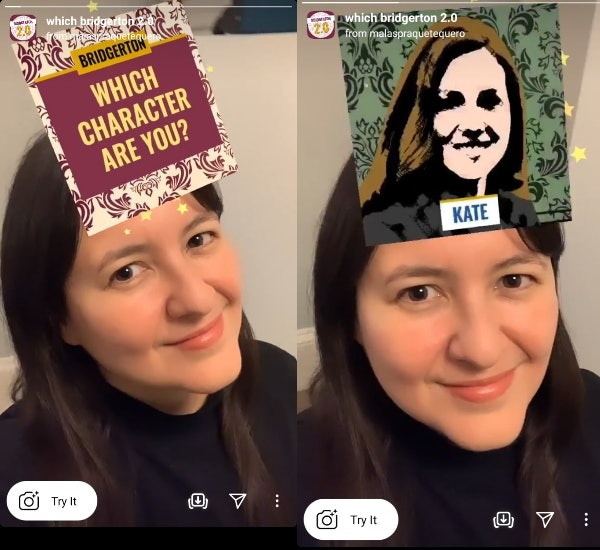 "These ""Which 'Bridgerton' are you"" Instagram AR filters match you with your fave characters."