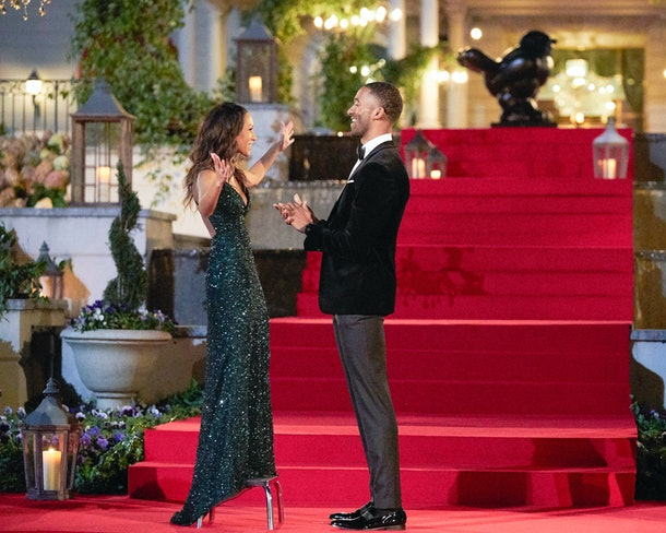 Serena P. and Matt James in The Bachelor.