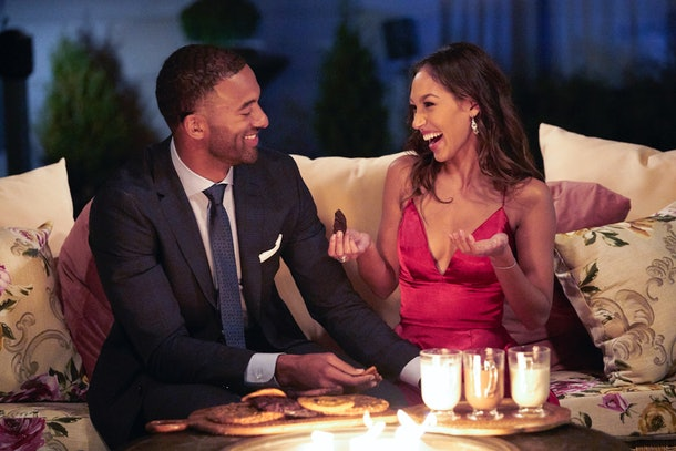 Matt James and Serena P. in The Bachelor.