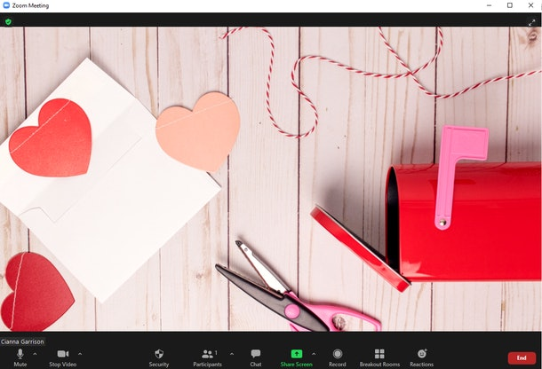 These Valentine's Day Zoom backgrounds are full of sweet hearts.