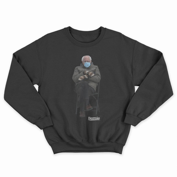 The Bernie Sanders' inauguration meme sweatshirt proceeds went to charity.