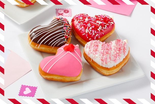 """Krispy Kreme's Valentine's Day 2021 doughnuts are """"Dough-Notes"""" with a personalized message."""