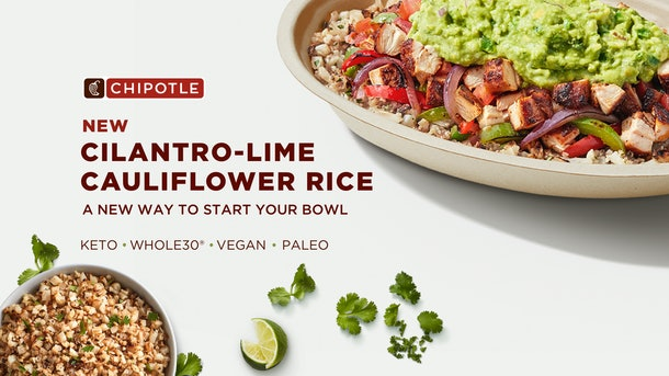 The price of Chipotle's new Cilantro-Lime Cauliflower Rice is a bit more than you're used to.