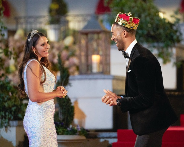 Victoria and Matt in The Bachelor Season 25.