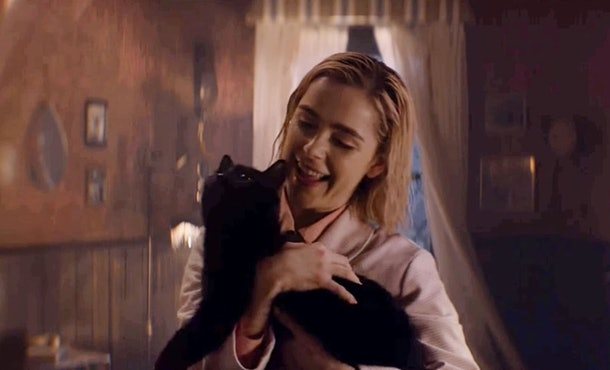 Kiernan Shipka is allergic to cats, even though Sabrina cuddles with Salem.
