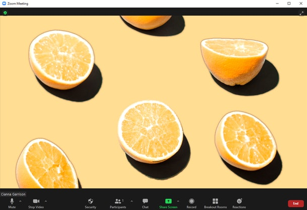 These simple Zoom backgrounds include sweet fruit photos.