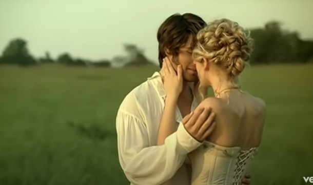 """A screenshot from Taylor Swift's """"Love Story"""" music video."""
