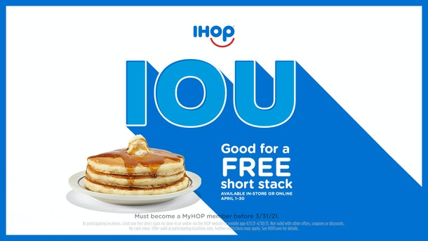 IHOP's National Pancake Day 2021 deal will score you a free short stack.