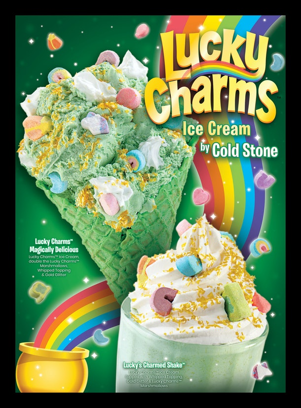 Lucky Charms' St. Patrick's Day 2021 offerings include a festive milkshake from Cold Stone.