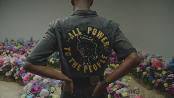 Levi's x Fresco Steez's Black Panther reference in their collaboration.