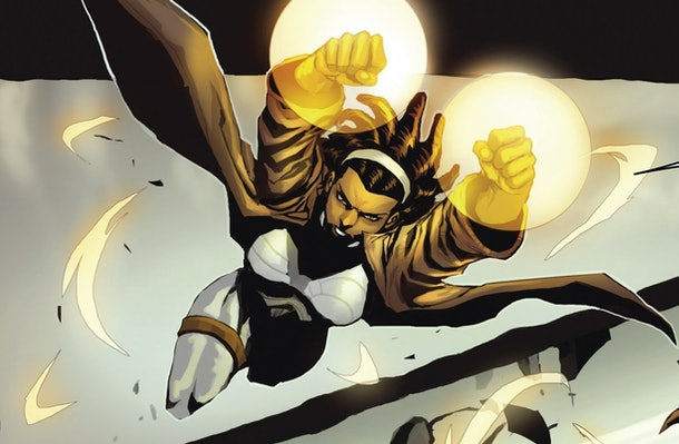 Monica Rambeau is an energy manipulating superhero named Photo in the Marvel Comics, and also becomes Captain Marvel.