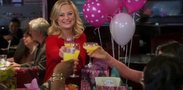 These Galentine's Day Zoom backgrounds feature Knope's brunch and balloons.