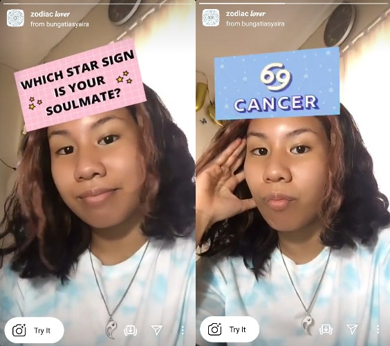 These Valentine's Day 2021 Instagram filters include zodiac soulmates.