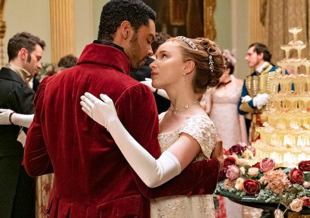 Daphne and Simon in Bridgerton Season 1.