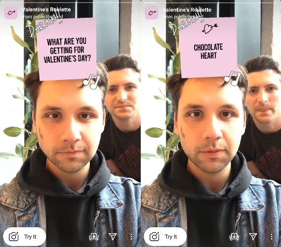 These Valentine's Day 2021 Instagram filters include so many AR predictors.