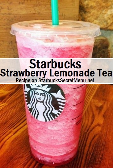 These Starbucks secret menu Valentine's Day 2021 drinks include a strawberry lemonade.